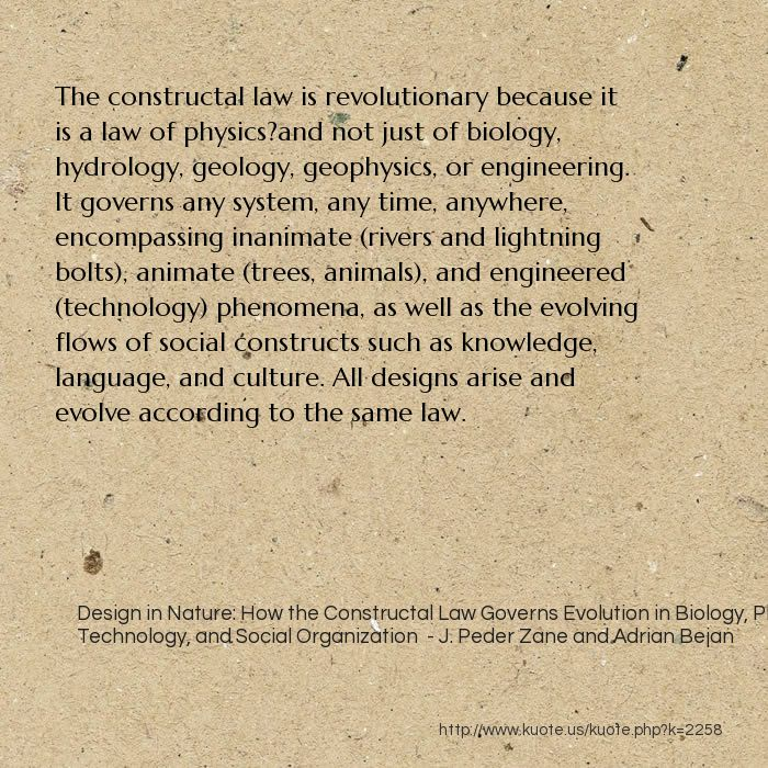 design in nature how the constructal law governs evolution in biology physics technology and social organization