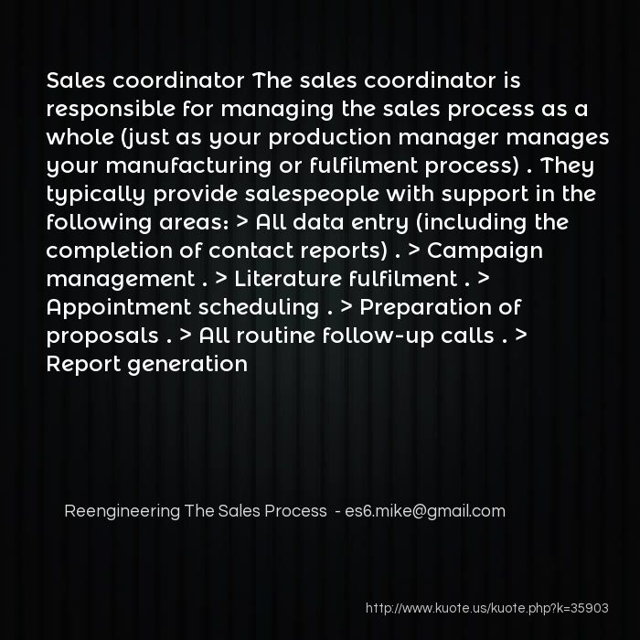 Kuote us! :: My Quotes in Reengineering The Sales Process