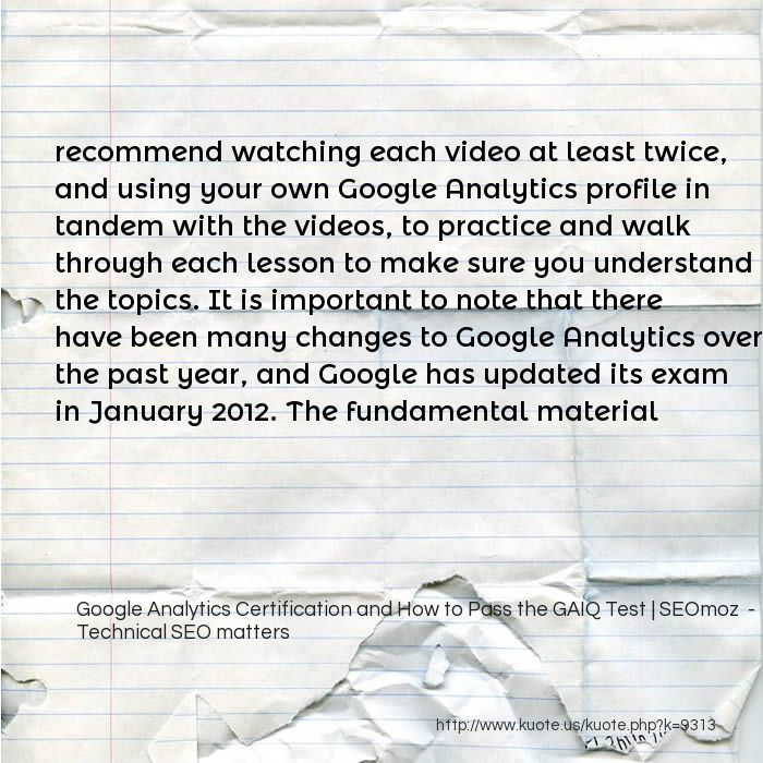 Kuote Us My Quotes In Google Analytics Certification And How To
